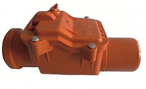 Rückstausicherung-Rückstauverschluss-Rückstauklappe: Ø DN 75 (75mm), verriegelbare Rückstauklappe mit Edelstahleinlage