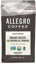 Allegro Coffee, Organic Mexico Light Roast Ground Coffee, 12 oz.