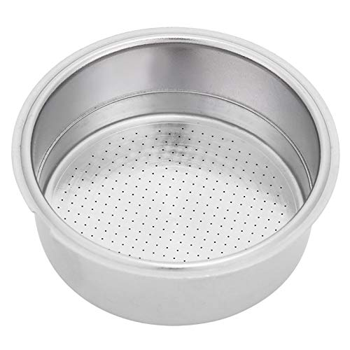 Stainless Steel Coffee Filter, 51mm Double Layer Pressurized Filter Basket Espresso Filter Basket for Portafilter Coffee Machine(Double Cup)