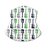 Funny Caps Rock And Roll Guitar Versatile Multifunction Headwear Neck Gaiter Balaclava Helmet Liner Riding Face Cover For Kids Outdoors UV Protection