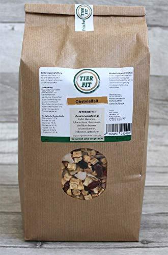 TierFit Obstvielfalt getrocknet 1 kg Ergänzung zur Fleischmahlzeit glutenfrei Äpfel Bananen Johannisbrot Kokosnuss Weißdornbeeren Johannisbeeren Erdbeeren