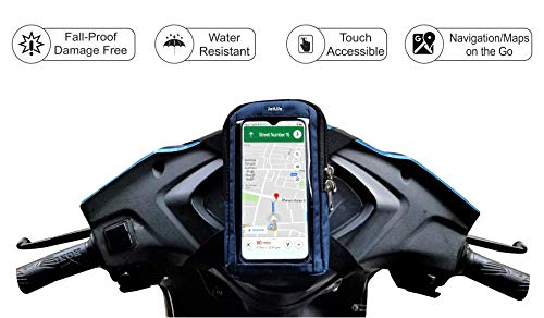 JetLife Fall-Proof, Rain-Resistant & Safety Mobile Holder for Scooter/Scooty/Moped Activa, Scooty, Jupiter, Access Etc| Fits All Smartphone Sizes| Universal Mobile Holder/Mount/Stand