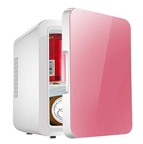 AOLI 4L Autokühlschrank Mini Kühlschrank 12V Autokühler Box Dual-Use Hot/Cold Home/Auto Tragbare Kühlbox Kleine Gefriertruhe Kalt- und Warminkubator,Rosa
