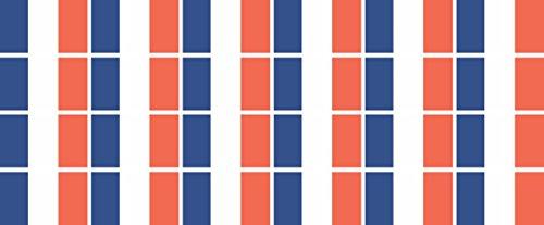 Mini Aufkleber Set - Pack glatt - 33x20mm - Sticker - Fahne - Frankreich - Flagge - Banner - Standarte fürs Auto, Büro, zu Hause und die Schule - 24 Stück