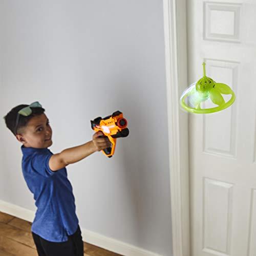 Strike Laser Tag Blaster Gun & Flying UFO Drone Deluxe Box Set - Infrared Toy Lazer Set For Kids