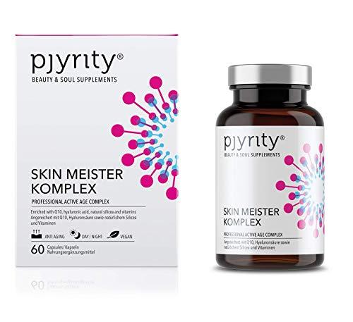 PJYRITY Skin Meister Komplex I Hyaluronsäure Kapseln mit Q10 + Biotin + Bambusextrakt I Universalmittel für die Haut I Vegan Glutenfrei Lactosefrei I 60 Kapseln