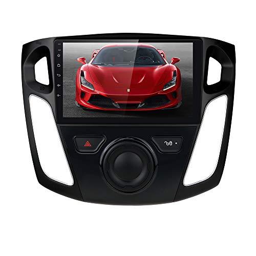Ossuret Android 10 Radio estéreo para automóvil con Pantalla táctil de 9 Pulgadas Apta para Ford Focus 2012-2017, RAM 2GB + ROM 64GB Soporte de navegación GPS para automóvil Control del Volante