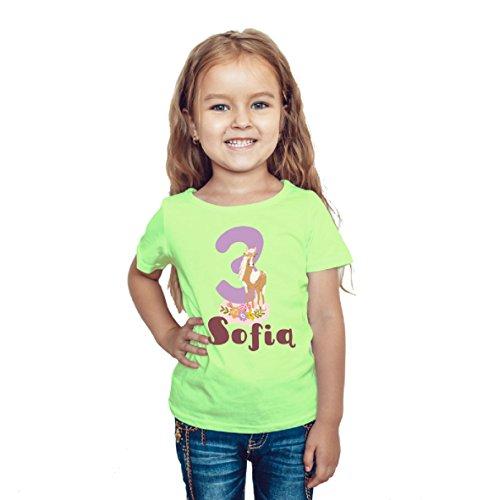 wolga-kreativ T-Shirt Geburtstag Mädchen ich Bin Schon 1 2 3 4 5 6 7 8 9 Jahre mit Namen Pferd Pony Geburtstagsshirt personalisiert Kindergeburtstag Geschenk Kinder