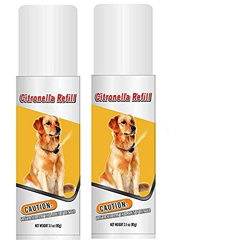 Downtown Pet Supply Citronella Refill Canisters to Control Dog Barking, No Bark, Anti Bark Collar - 6.2 oz - Two Pack