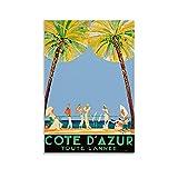 DONGXIO Cote D Azur Retro-Poster auf Leinwand und