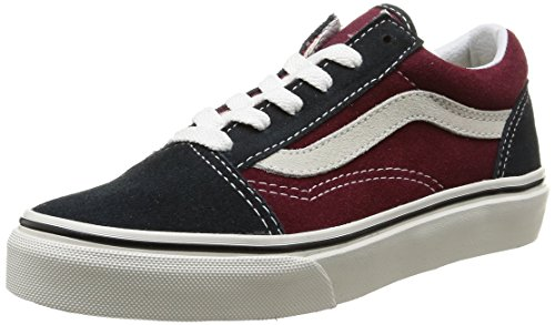 Vans Unisex-Kinder OLD SKOOL Turnschuh, Mehrfarbig (Vintage/Blue Graphite/Windsor Wine), 32 EU