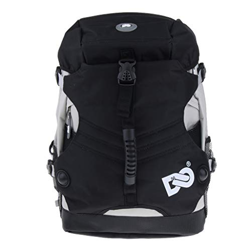 P Prettyia Sport Rucksack Aufbewahrungstasche für Rollschuhe und Inline Skates, 45 x 32 x 18 cm - Schwarz