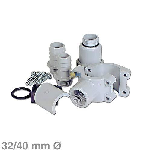 LUTH Premium Profi Parts Anbohrschelle für 32/40mmØ Siphon