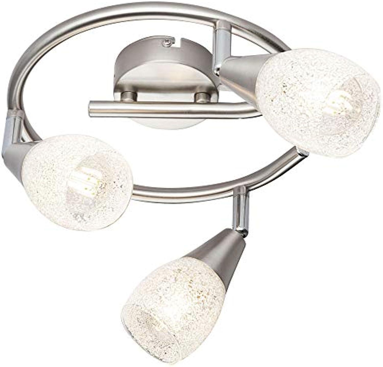 Kristall Decken Rondell Spot Lampe beweglich Dimmer Fernbedienung im Set inkl. RGB LED Leuchtmittel