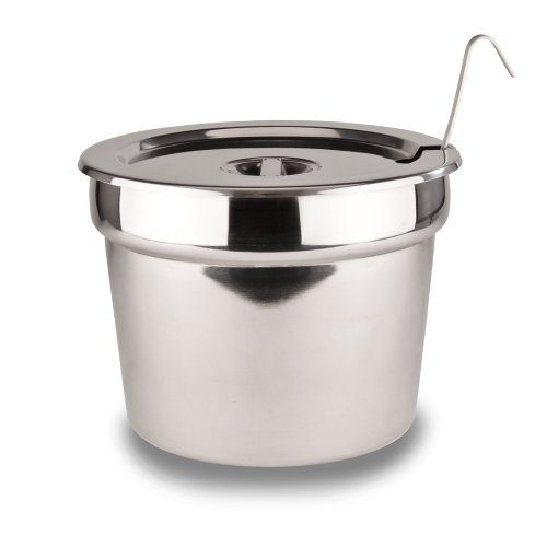 """Stainless Steel Insert Pan With Lid For 11 quart Soup/Food Warmer 11-1/2"""" X 9"""" (ladle not included)"""
