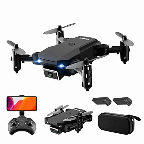 XIAOKEKE Drone RC con Telecamera 4K Drone Dual Camera Posizionamento del Flusso Ottico WiFi FPV Drone modalità Senza Testa Gesto Foto Video Traccia Volo 3D Filp RC Qudcopter (2 Batterie),Nero
