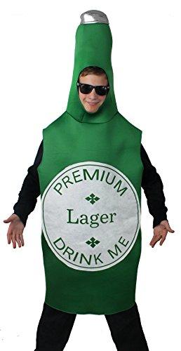 Costume bottiglia di birra (taglia unica), I Love Fancy Dress ILFD4532