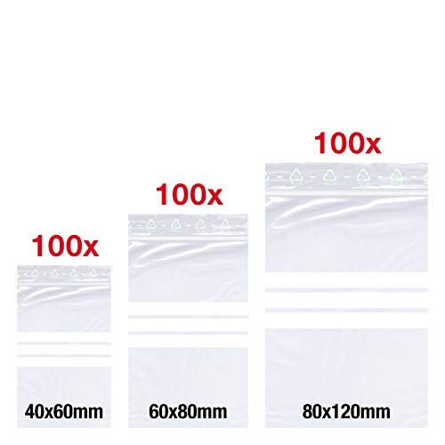 Bassel 300 X - Bolsas cierre presión 40 x 60 mm