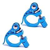 SENDILI Abrazadera Sillin Tija - Aleación de Aluminio Asiento de Bicicleta Poste Abrazadera Bicicleta de Montaña Sillín 28.6mm 2 Piezas(Azul),2*Azul,28.6mm
