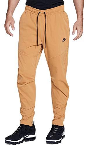 Nike Men's Sportswear Woven Joggers Pants (Flax, Medium)