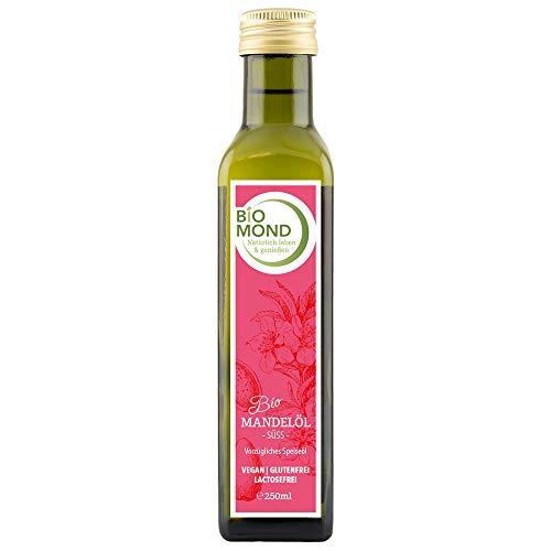 BIO Mandelöl Almond Oil BIOMOND 250 ml tagesfrisch kaltgepresst unraffiniert Testsieger vegan Bio zertifiziert Speiseöl Hautöl 100% naturrein