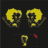 Sticker Mimo Pegatinas divertidas Betty Boop para moto, barco, coche, 4 x 4, casco, caravana y caravana, pegatinas para coche Motobike (amarillo 50 cm)