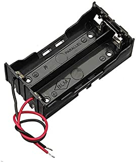 Camisin Black Plastic Battery Case Holder Wire 2 x 1.5V AAA