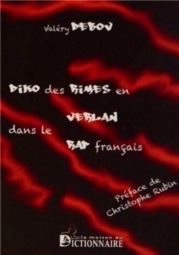 Le livre Diko des rimes en verlan dans le rap français