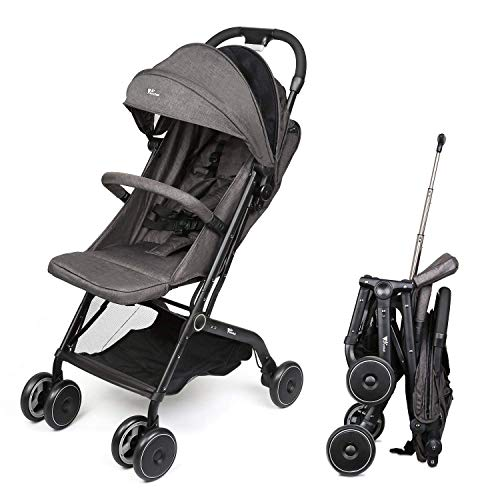 Amzdeal Airplane Lightweight Stroller Portable Travel Stroller with Pull Handle Foldable Design for Car and Airplane Travel
