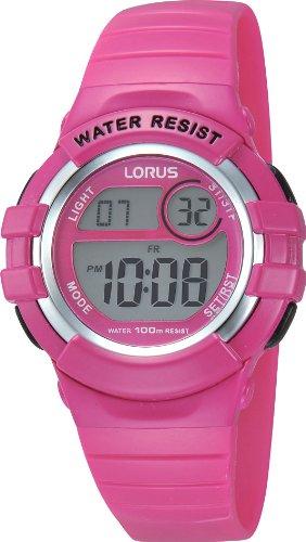 Lorus Mdchen Digital Quarz Uhr mit Kautschuk Armband R2387HX9