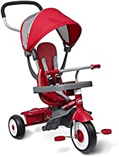 """Radio Flyer 4-in-1 Stroll 'N Trike, Red Toddler Tricycle for Ages 9 Months -5 Years, 19.88\\"""" x 35.04\\"""" x 40.75\\"""""""