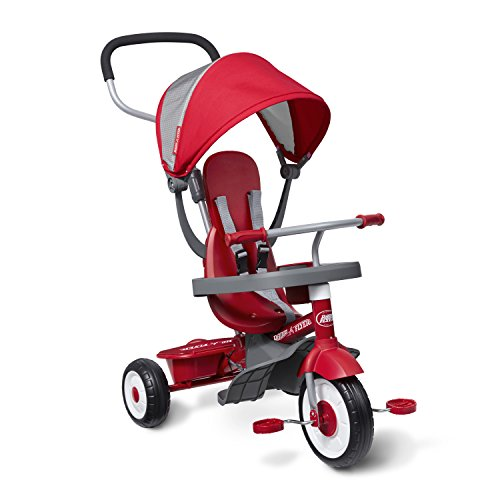 Radio Flyer 4-in-1 Stroll 'N Trike, Red Toddler Tricycle for Ages 9 Months -5 Years, 19.88' x 35.04'...