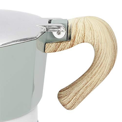 Garsentx Máquina de café expreso, cafetera con Tapa de Estufa de Vapor, percolador, Mango de Calor, fácil de Instalar y Desmontar(No. 3 Pot 150ML Lake Blue)