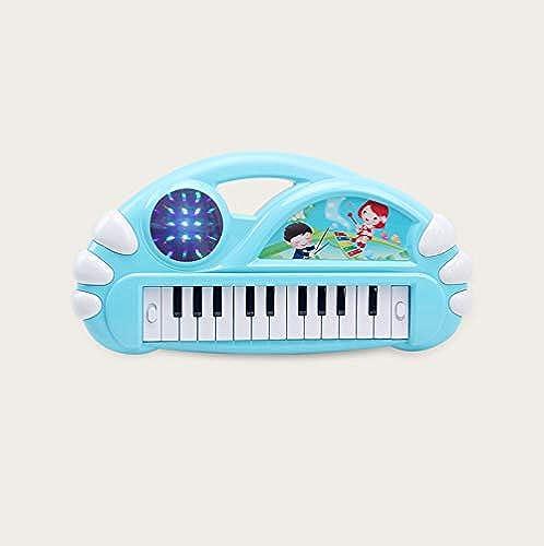LIPENG-TOY Puzzle Aufkl ng Tastatur Jungen mädchen Klavier Baby Frühes Lernen Mit Mikrofon Kinder Musik Spielzeug (Farbe   Blau b)