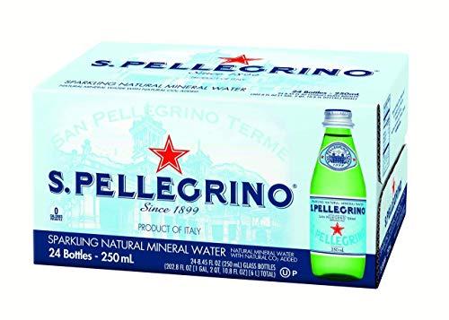 San Pellegrino Sparkling Natural Mineral Water, 8.45oz Glass Bottle, 24 Pack