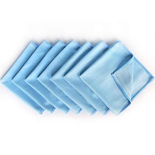 Autocare Mikrofaser Fenstertuch Reinigungstücher zum Putzen von Auto, Haushalt, Scheiben und Glas, 8 Stück, 30.5 x 30.5cm