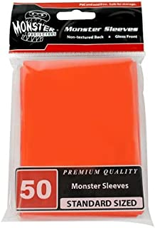 Monster Protectors Sleeves Sleeves - Standard Size Gloss - Orange (Fits MTG Magic The Gathering and Other Standard Sized G...