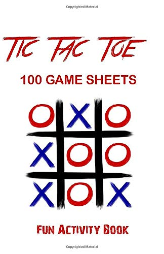 Tic-Tac-Toe Game Book: 250 Game Sheets - Tic-Tac-Toe Blank Games - '5.5 x 8.5' Soft Cover Book for Kids for Traveling & Summer Vacations - Red Hearts: ... Cover : Soft Cover (Matte) Size : 5.5 x 8.5