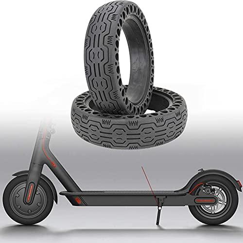 Honeycomb Neumático de Goma Maciza, Neumático de Rueda de Repuesto de 8.5 Pulgadas Neumático de Scooter Sólido para Rueda Llanta de Patinete Scooter Eléctrico (Negro)