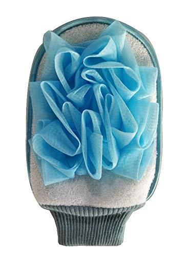 Confortable Bath Mitt Douche Gant exfoliant Gant de bain Accessoires Bleu