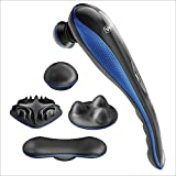 Wahl Deluxe Lithium Ion Deep Tissue Cordless Percussion Therapeutic Handheld Massager for Muscle, Back, Neck, Shoulder, Full Body Pain Relief – Use at Home, Car, Office, or Travel, Blue – Model 4232