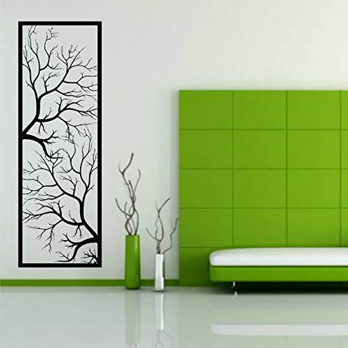 """DEKADRON - Décoration murale en métal motif branches d'arbre Art déco 14""""W x 40""""H / 34x100 cm noir"""