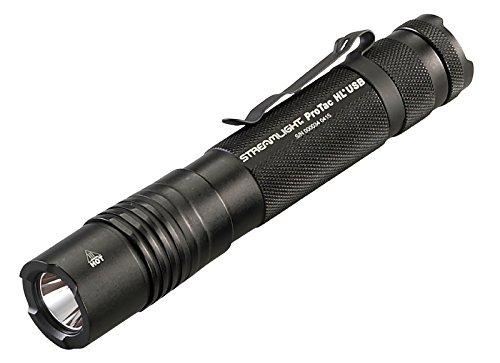 Streamlight 88052 ProTac HL USB 1000 Lumen Professional Tactical Flashlight with High/Low/Strobe - 1000 Lumens