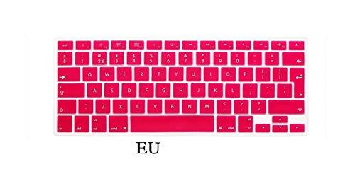 EU US English Keyboard Skin for Macbook Pro 13 15 CD ROM A1278 A1286 Keyboard Cover Slim Waterproof Skin Film Protector-EU-Red