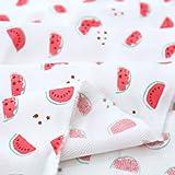 Wooju.Corporation Süße Wassermelone Viskose Stoff 43,3