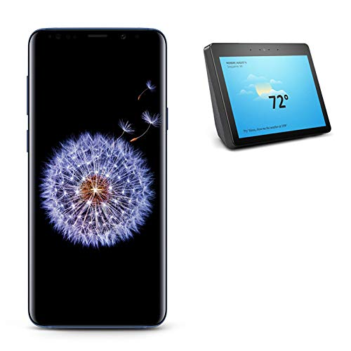 Samsung Galaxy S9+ Unlocked Phone, Coral Blue with All-new Echo Show (2nd Generation)