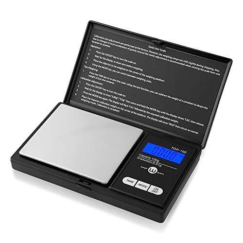 Weigh Gram Scale Digital Pocket Scale,100g by 0.01g,Digital Grams Scale, Food Scale, Jewelry Scale Black, Kitchen Scale 100g