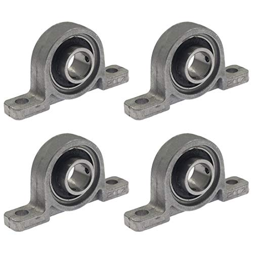 "Kmitmuk 4 Pcs Mounted Pillow Block Bearings Self Aligning Vertical Bearing, 15mm/0.59"" Bore Diameter"