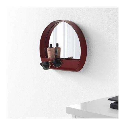 IKEA 503.461.03 Ypperlig - Espejo de pared, color rojo oscuro: Amazon.es: Hogar