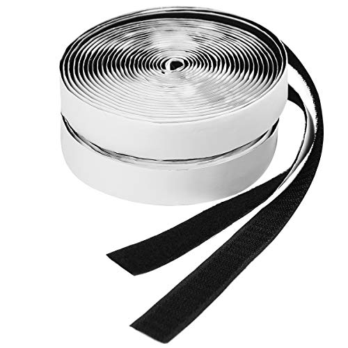 Audamp Klettband Selbstklebend 5M Doppelseitig Klebende Klettverschluss Selbstklebendes Klebepad 20mm Breit